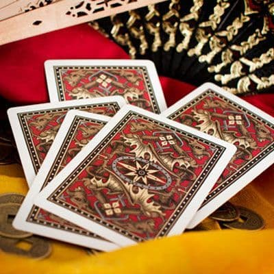 Bicycle Dragon Back gold poker cards