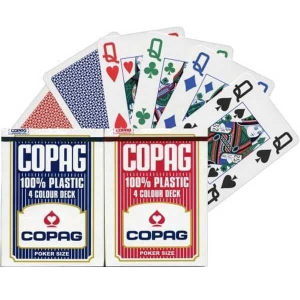 Copag 4 colour plastic cards