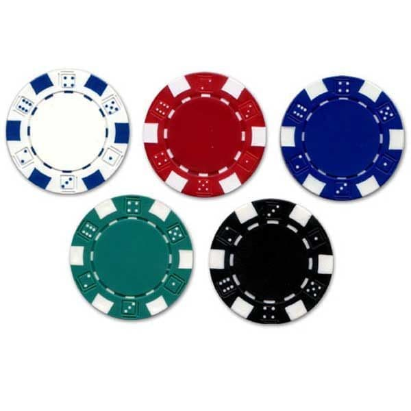 Dice poker chips